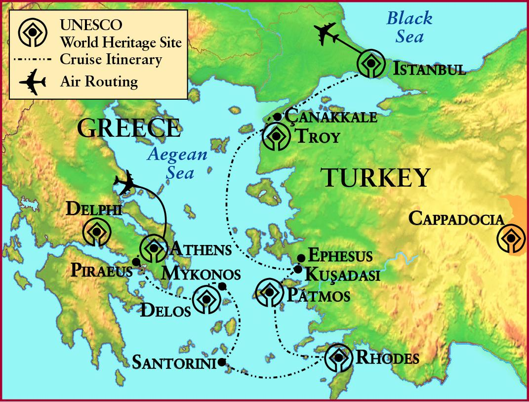 Ancient Greece Troy Map Map Of Ancient Greece And Troy Southern