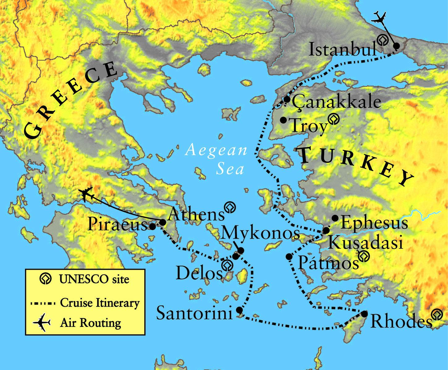 Troy Greece Map Greece and Troy map   Map of Troy and Greece (Southern Europe