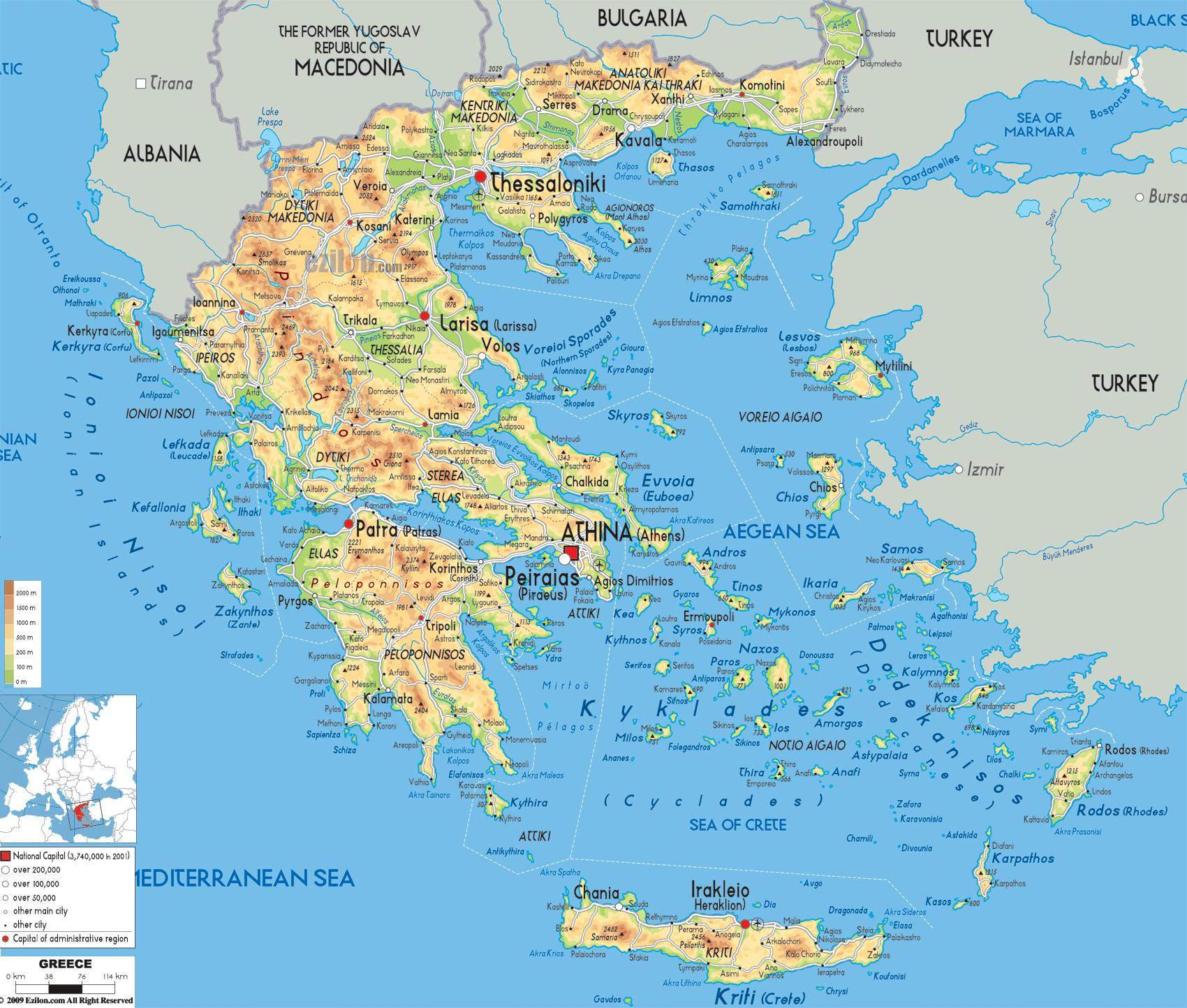 geographical map of greece. greece geography map  geographical map of greece (southern europe