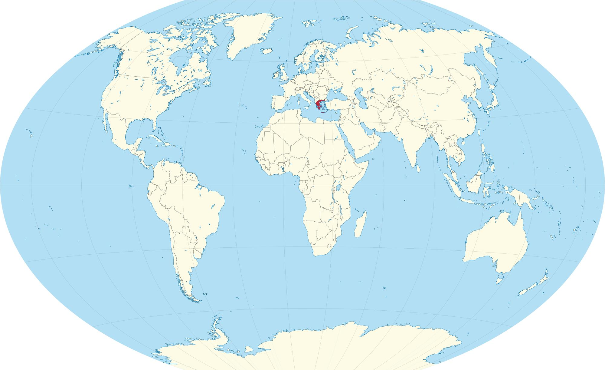 Greece on world map world map of greece southern europe europe world map of greece gumiabroncs Choice Image