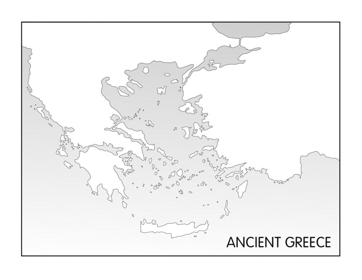 ancient Greece blank map
