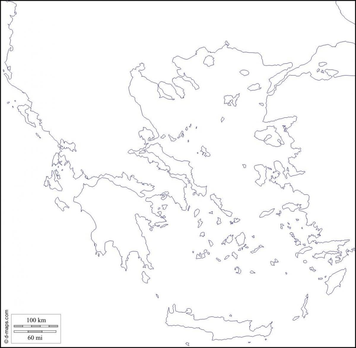 Picture of: Blank Map Of Greece Greece Blank Map Southern Europe Europe