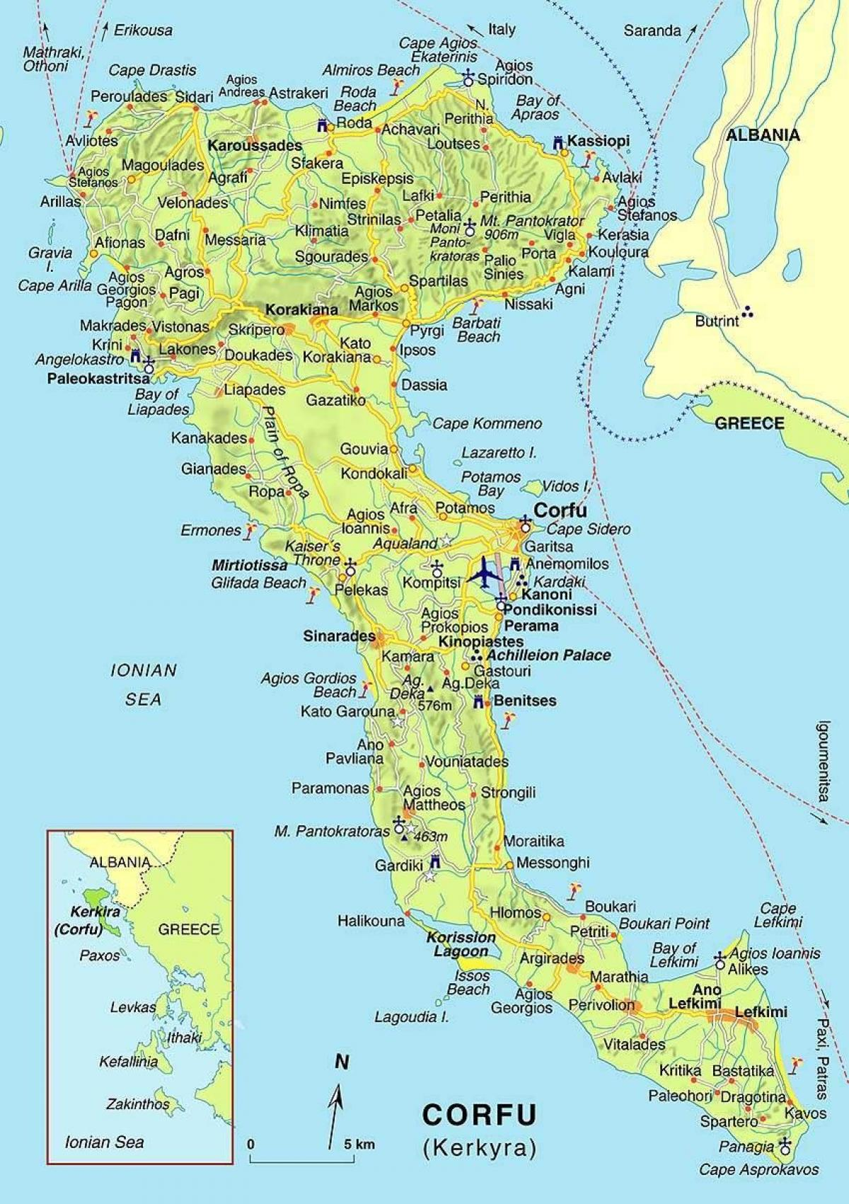 Corfu Greece map Map of Corfu Greece Southern Europe Europe