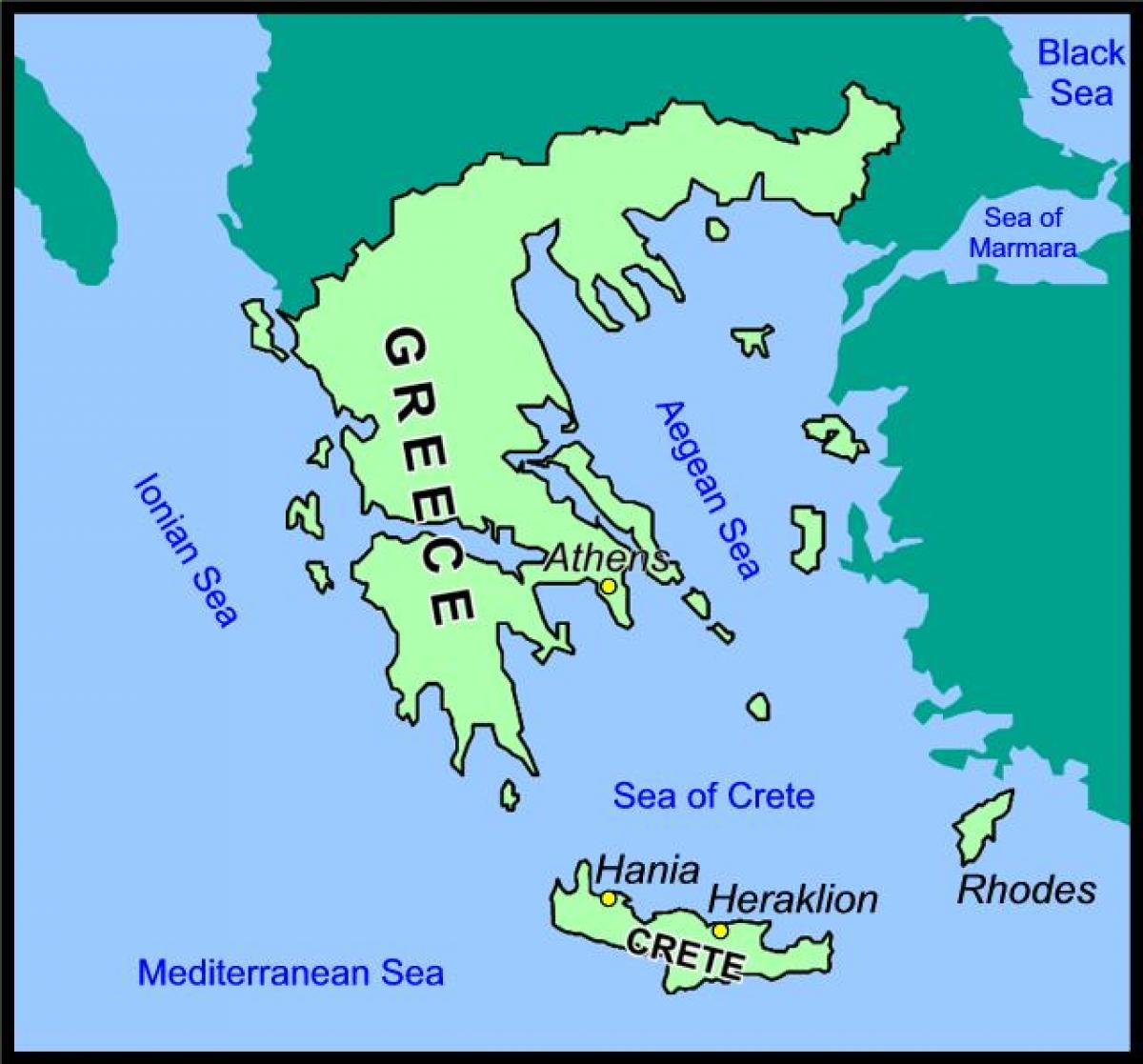 Crete Greece Map Map Of Crete And Greece Southern Europe