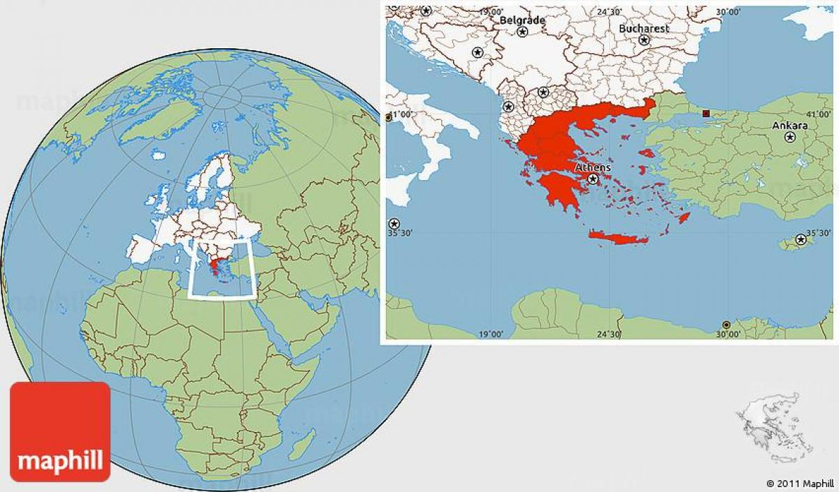 Greece in world map - World map Greece (Southern Europe - Europe) on greece on earth, athens greece on map, greece map with attractions, greece on europe map, athens greece world map, greece on a map, greece on middle east map,