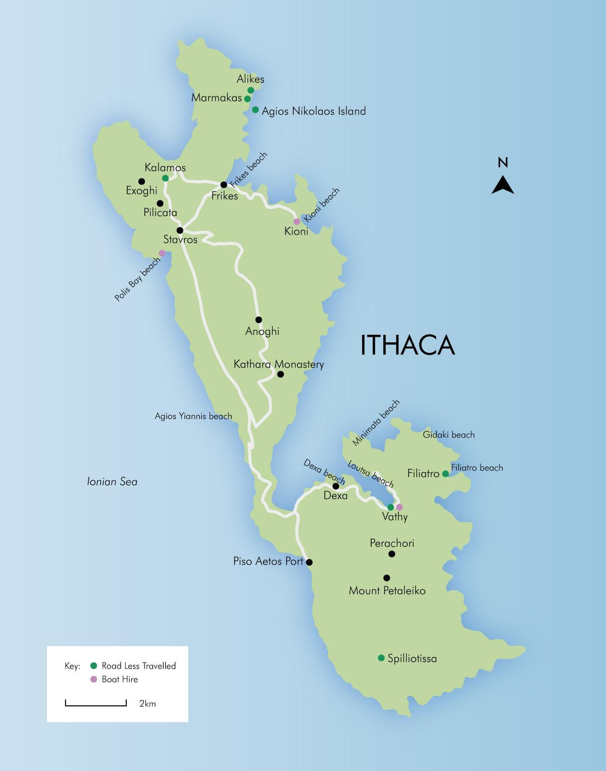 Ithaca Greece map Map of Ithaca Greece Southern Europe Europe