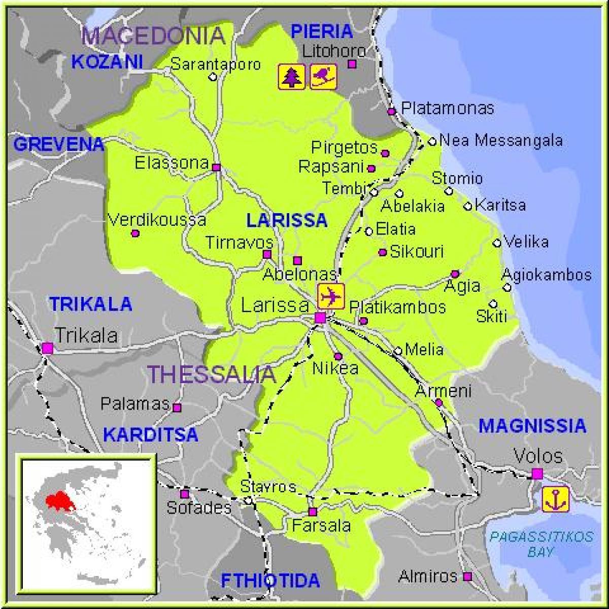 Larissa Greece map Map of Larissa Greece Southern Europe Europe
