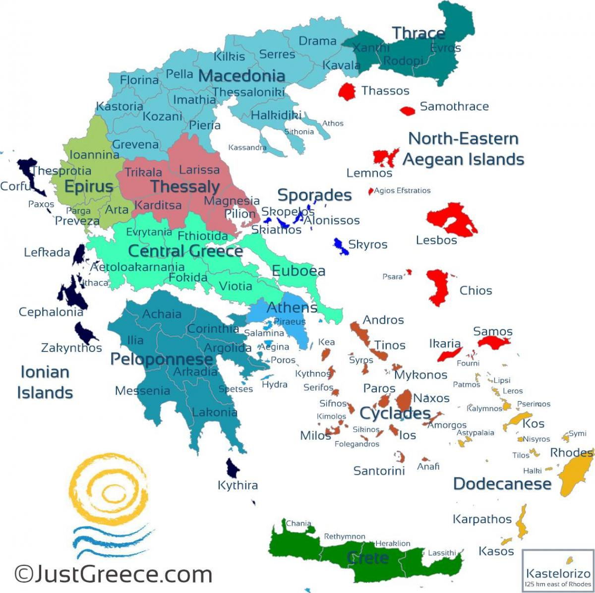 photograph regarding Printable Maps of Greece known as Map of Greek islands - Greek isles map (Southern Europe
