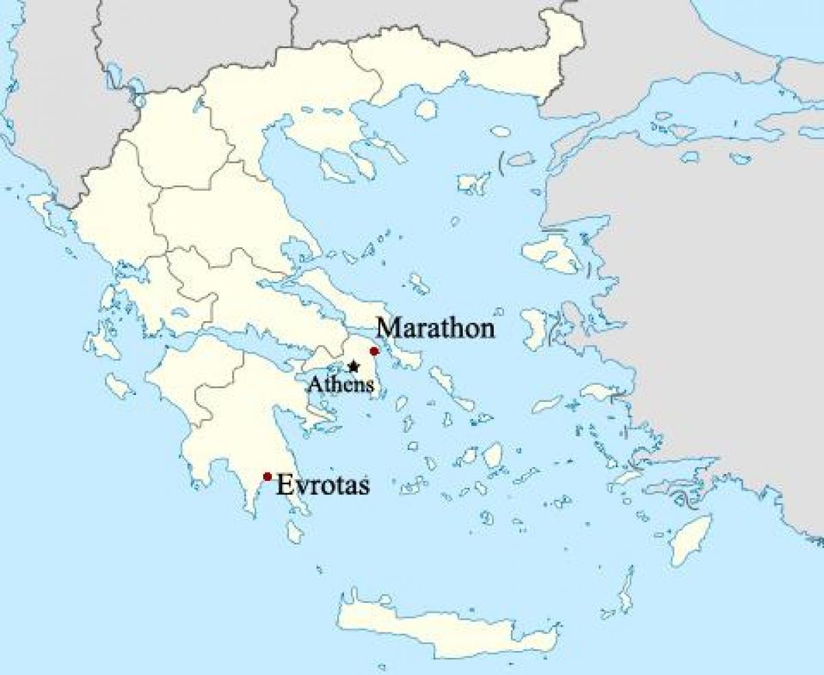 Marathon Greece map   Map of Marathon Greece (Southern Europe