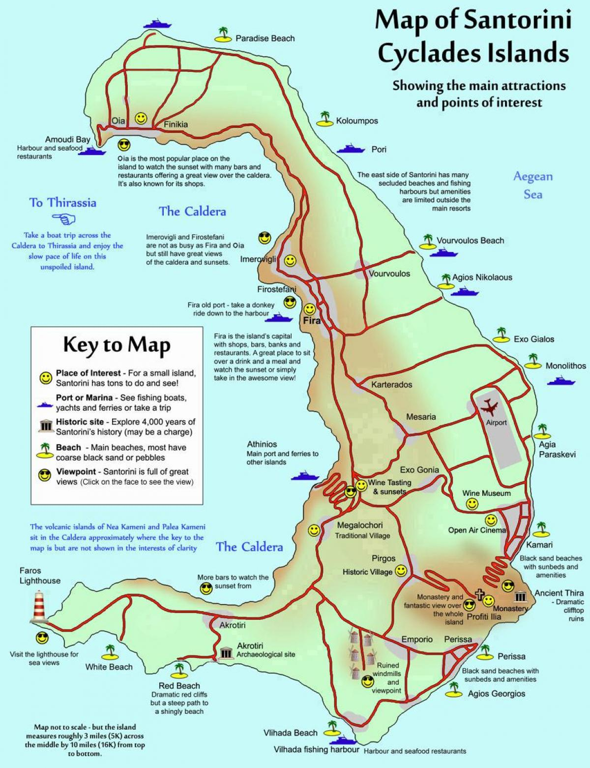Santorini Greece Map Map Of Santorini Greece Southern