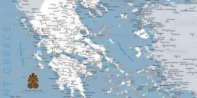 A map of ancient Greece