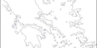Greece blank map