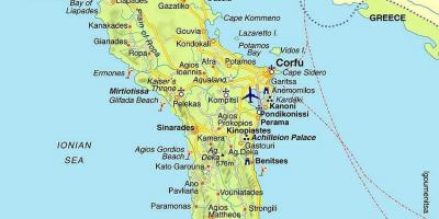 Map of Corfu Greece