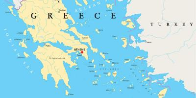 Greece on the map
