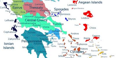 Greek isles map